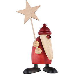 Weihnachtsmann mit Stern  -  19cm