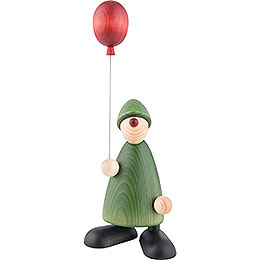 Well - wisher Linus with balloon  -  17cm / 6.7inch