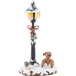 Winter Children Doggy under the lamppost  -  12cm / 5inch