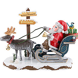 """Winter Children """"Santa Claus is coming to town""""  -  8cm / 3.1inch"""