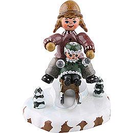 Winterkinder Schlittenfahrerin  -  7cm