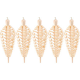 Wood chip cone, set of five  -  10cm / 4inch